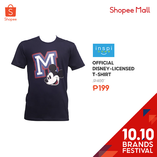 Official Disney-licensed T-Shirt at 50% Off on Shopee's 10.10 Brands Festival