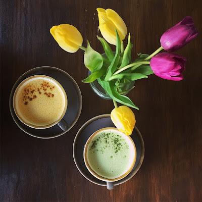 Turmeric and matcha lattes - Bonobo Aberdeen