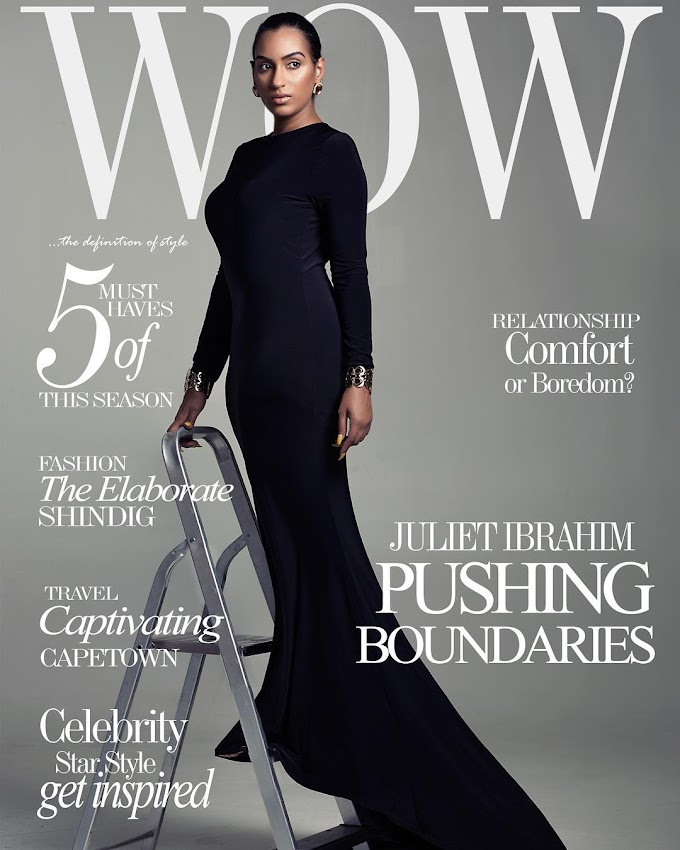 Actress Juliet Ibrahim Covers WOW Magazine's Latest Issue