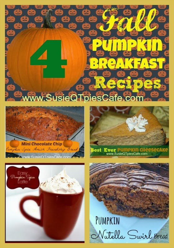 SusieQTpies Cafe: 4 Breakfast Pumpkin Recipes For Your