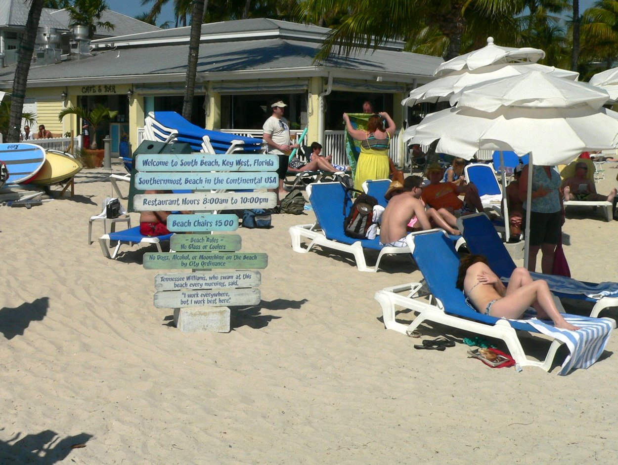 Key West Beach Scenes South