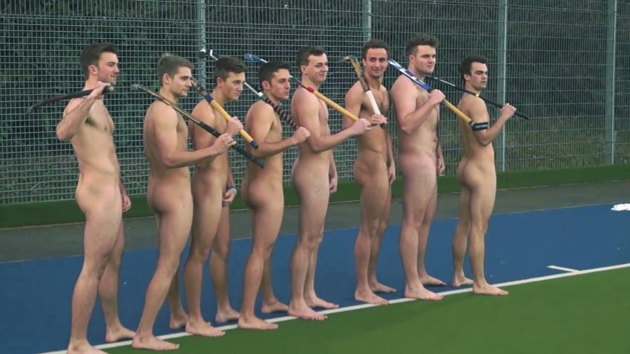 Nude male hockey players
