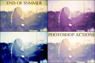 FREE END OF SUMMER PHOTOSHOP ACTIONS