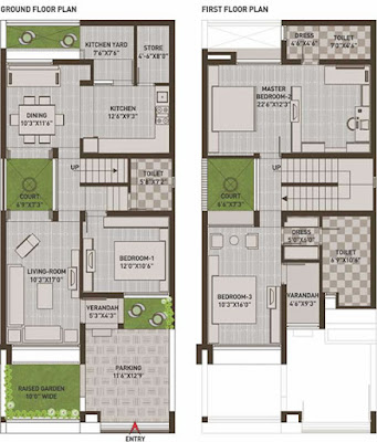 100 Gaj Makan Ka Naksha (100 Gaj House Map Design) | 100 गज मकान का नक्शा