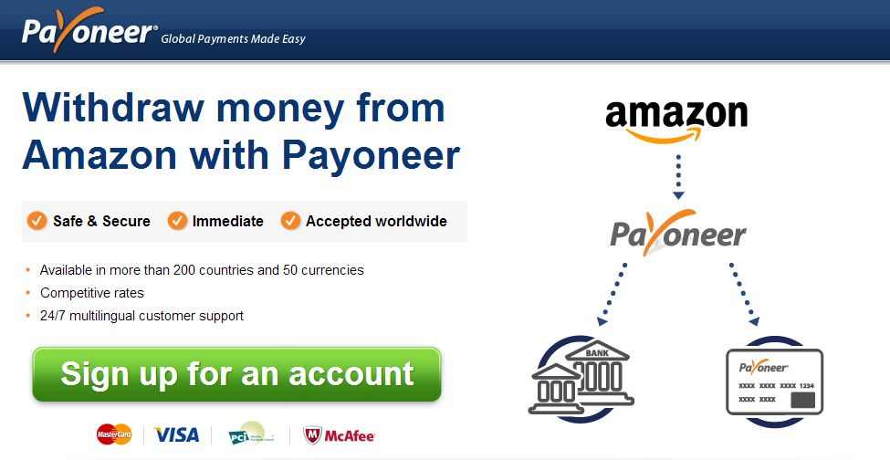 withdraw money from Amazon via ATM or debit card