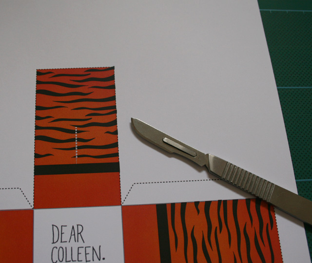 dear colleen: Tigershark: April, Printable Freestanding Calendar