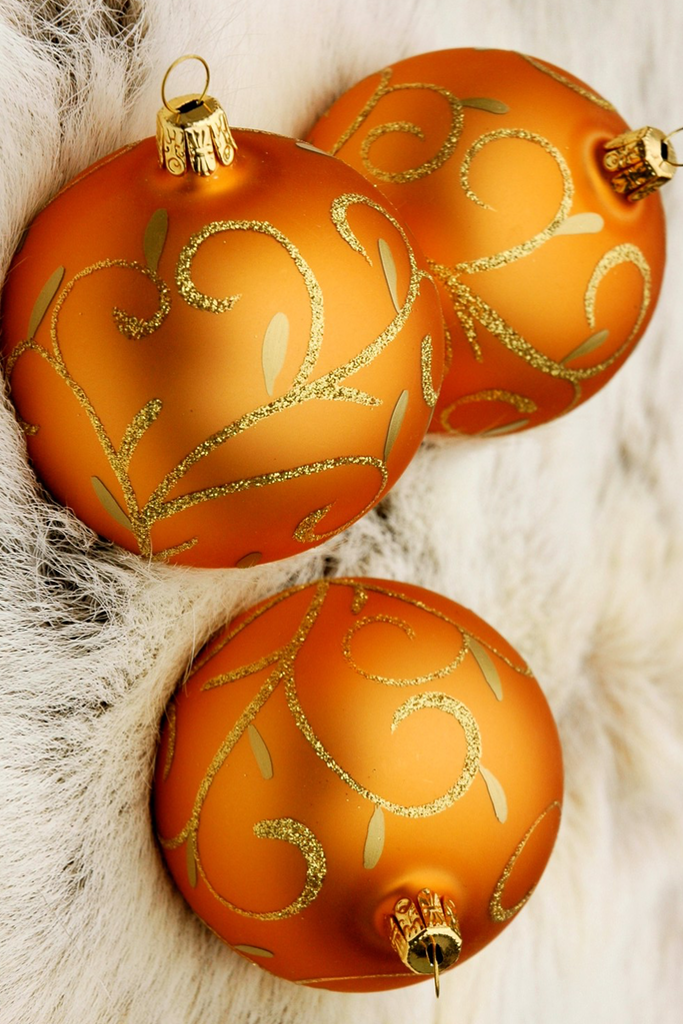 Orange/Gold Christmas Ornaments