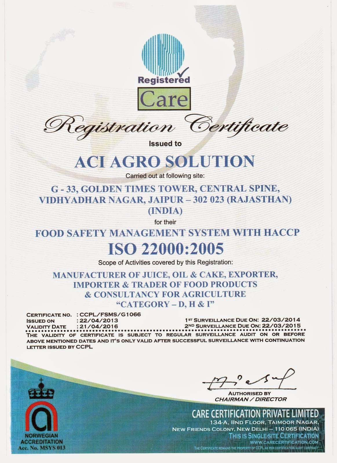 MUSHROOM CULTIVATION IN INDIA : ACI AGRO SOLUTION CERTIFICATE
