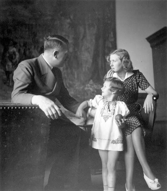 Hitler, Eva Braun, and Uschi Schneider, 1 May 1942 worldwartwo.filminspector.com