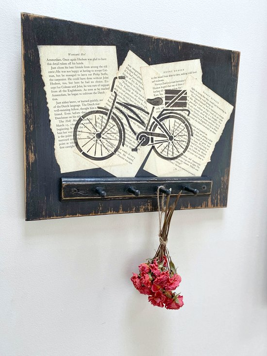 DIY rustic flower and herb drying rack