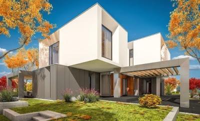rumah minimalis atap datar