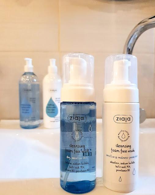 Ziajine pjene za umivanje za osjetljivu i suhu kožu