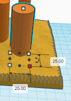 making cylinder in terrain