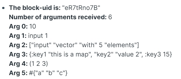 datatypes / arguments example
