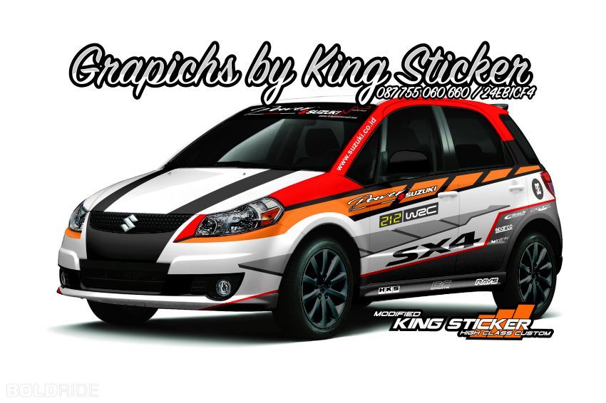 Cutting Sticker Suzuki X Over King Sticker Bali