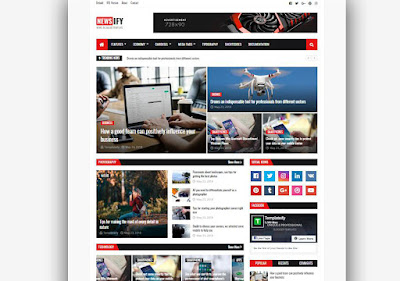 Newsify Responsive Free Blogger Templates