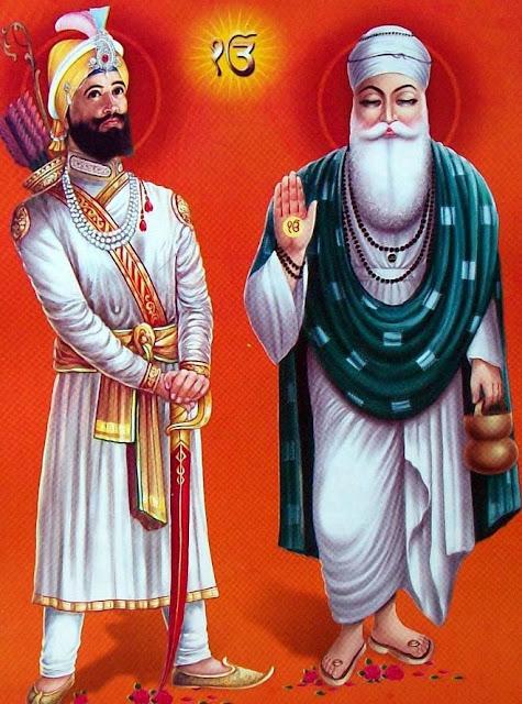 Shri Guru gobind singh ji and shri guru nanak dev ji image