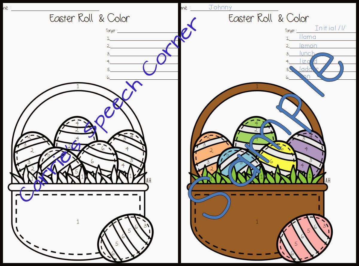 Easter Articulation Worksheet