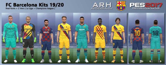 PES 2017 Barcelona Kits Season 2019/20 by ARH