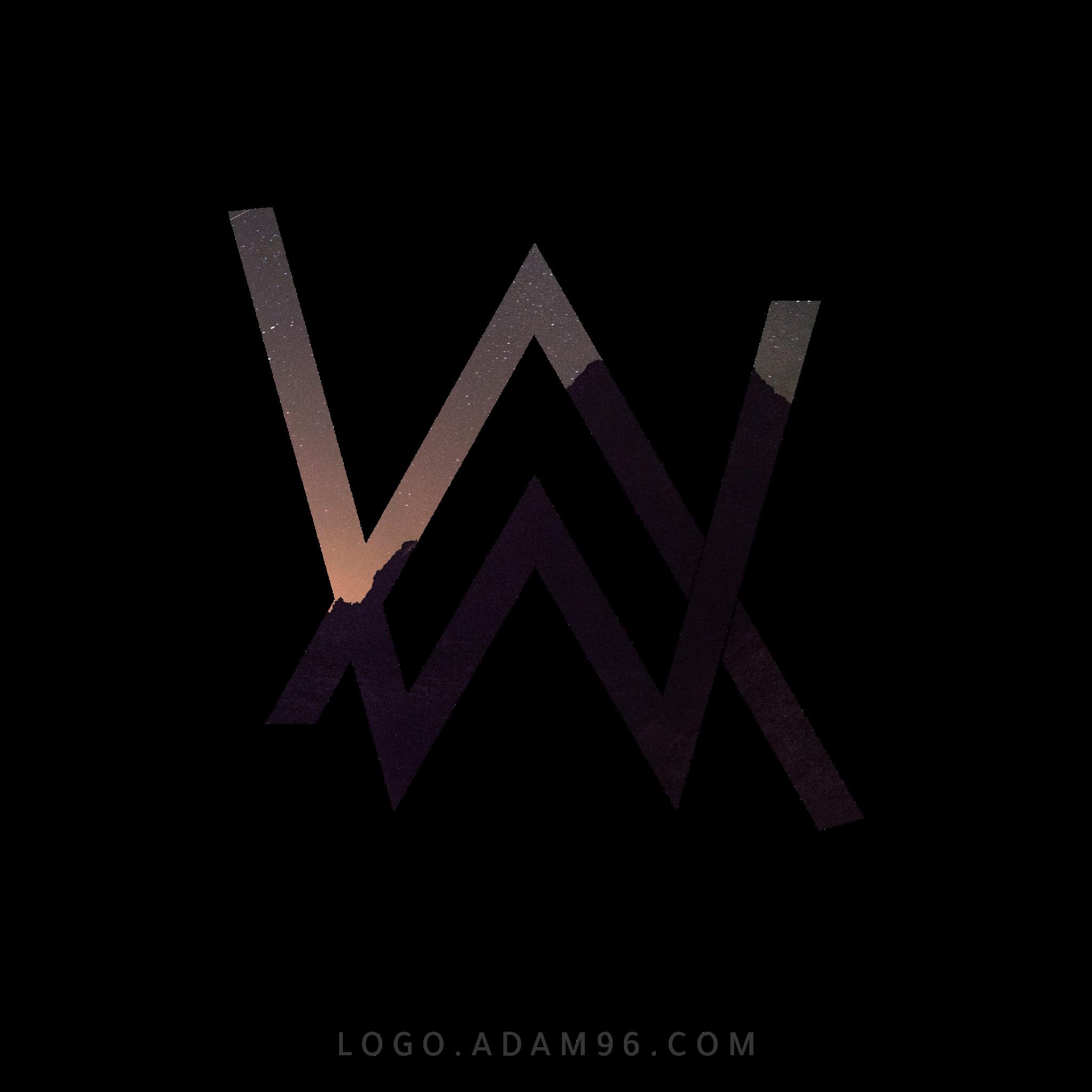 تحميل شعار ألان ووكر لوجو رسمي عالي الدقة بصيغة شفافة Logo Alan Walker PNG