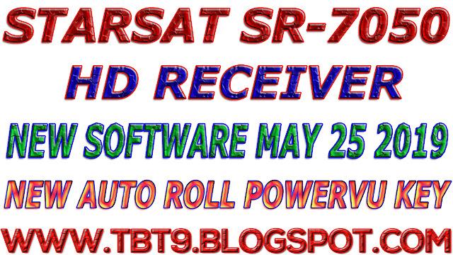 STARSAT HD RECEIVER SR-7050 BEOUTQ AUTO ROLL POWERVU NEW SOFTWARE