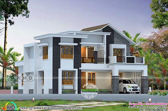 2357 square feet mixed roof modern home
