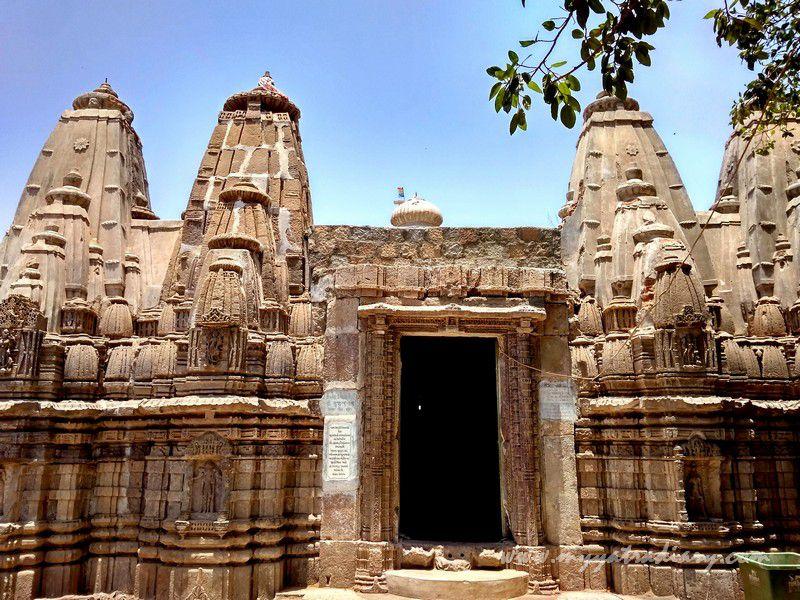 Jain temple remnants at the Mahakalika Temple, Pavagad, Champaner Gujarat