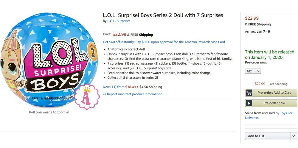 Дата выпуска и цена L.O.L. Surprise! Boys Series 2