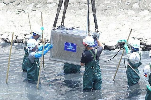 Hà Nội xả nước cuốn trôi toàn bộ kết quả thí nghiệm của chuyên gia Nhật ở sông Tô Lịch