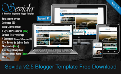 sevida v2.5 blogger template free download