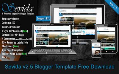 sevida v2.5 blogger template free download
