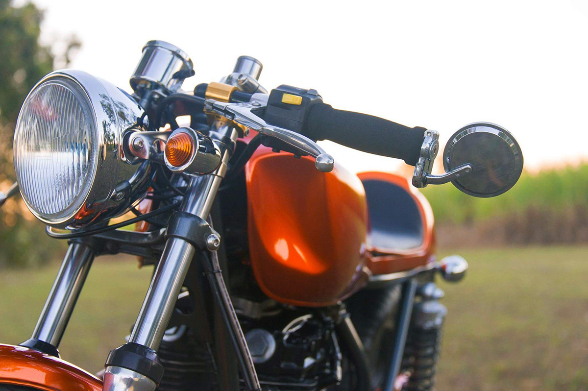 sly as a fox - kawasaki kz440 cafe racer ~ return of the cafe racers