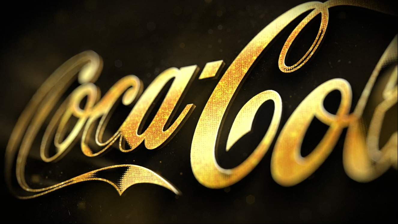 Bumper GOLDEN Coca Cola