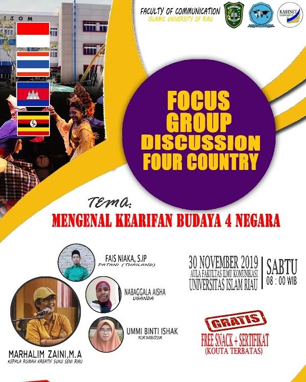 Kepala Suku Seni Menjadi Narasumber Dialog 4 Negara
