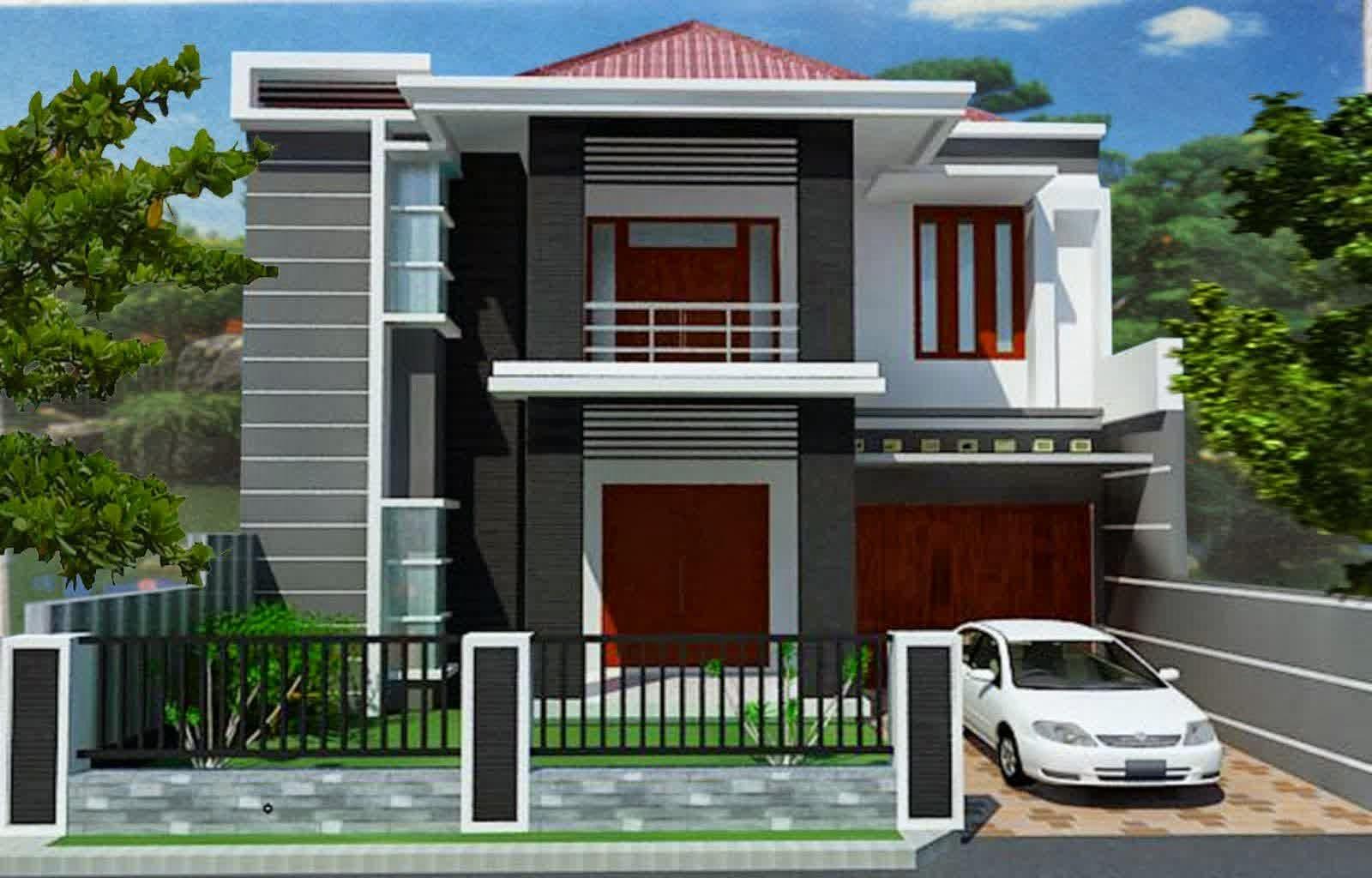 55 Gambar Rumah Minimalis Lantai 2 Atap Limas Gratis Terbaru