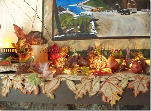 Make your own fall runner for table or mantel