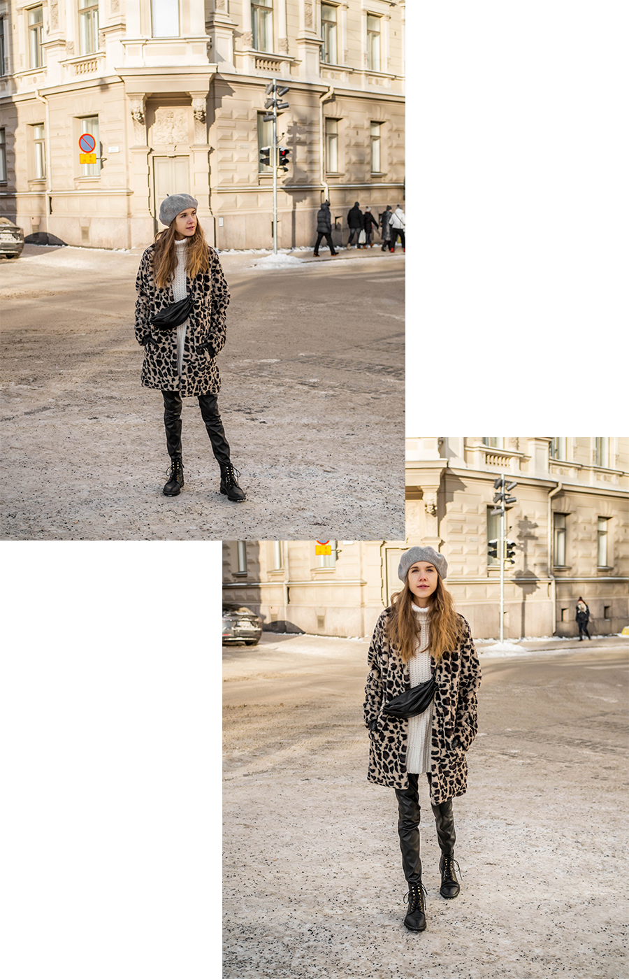 Inspiraatiota talvipukeutumiseen: leoparditakki // Winter fashion inspiration: leopard coat