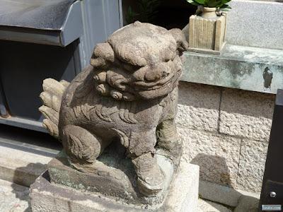 真言宗高野山自性院内神社狛犬