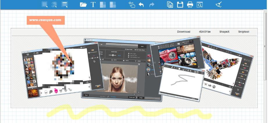 Sniptool هو أداة التقاط شاشة محمولة مع محرر صور مدمج