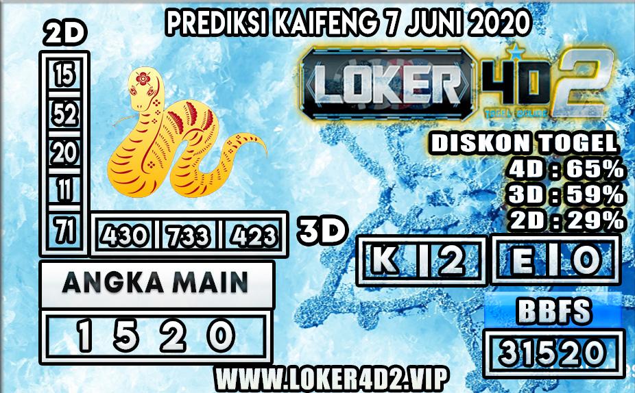 PREDIKSI TOGEL KAIFENG LOKER4D2 7 JUNI 2020