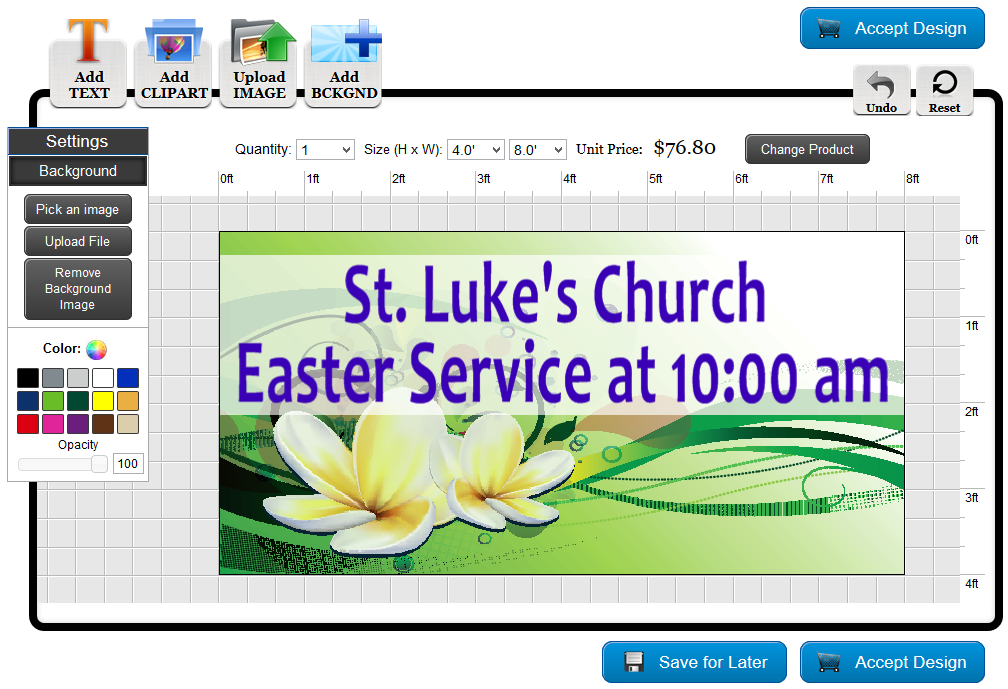 Easter Banner Template in the Online Designer