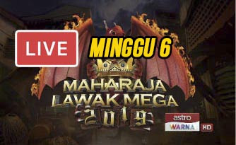 Live Streaming Maharaja Lawak Mega 6.12.2019 (MINGGU 6).