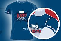 Logo Anniversario Raffo 100 anni: ricevi come premio certo una T-Shirt personalizzata con il tuo nome