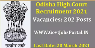 Odisha Govt Job for Section Officers