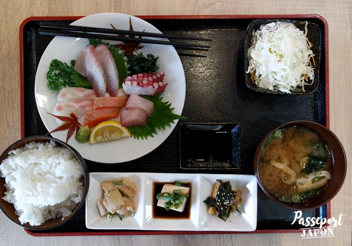 Menu sashimi, restaurant Wasen, Yufuin