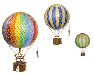 Hot Air Balloons by Authentic Models for childrens bedroom