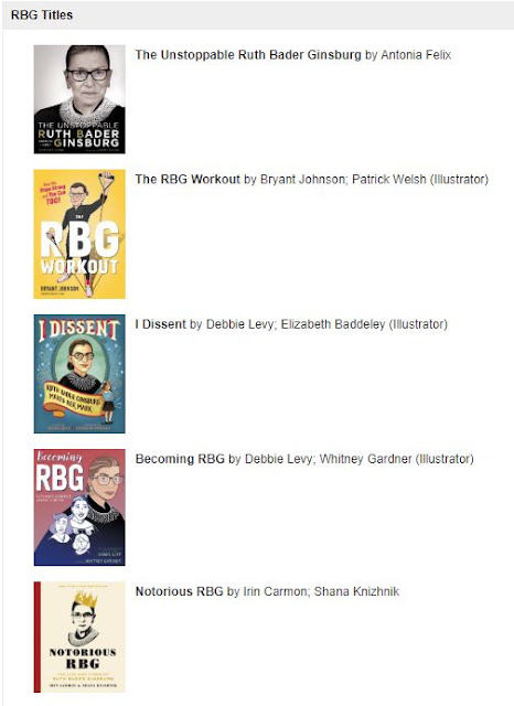 List of RBG books available at the Gallagher Law Library (part 1)