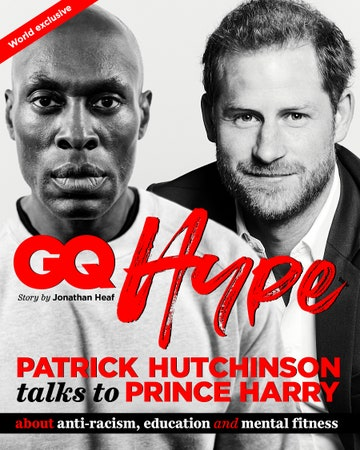 A (ripped looking) Prince Harry sits down with the (definitely ripped) Patrick Hutchinson