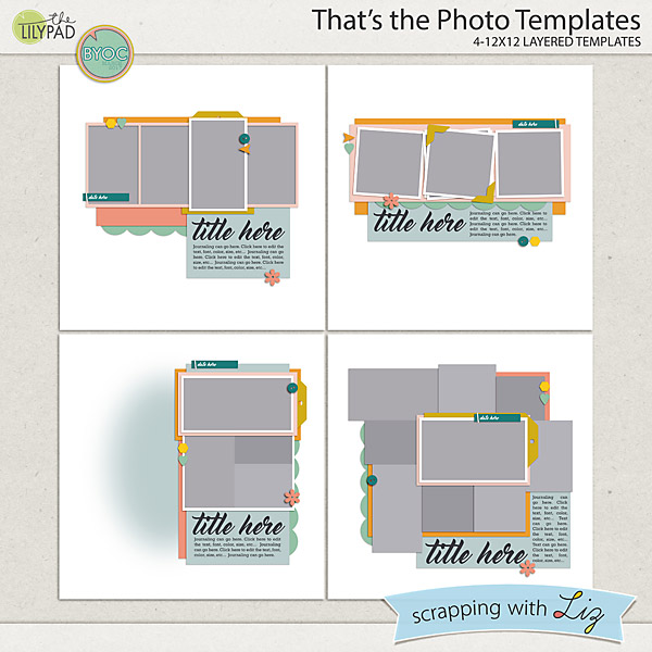 Digital Scrapbook - That's the Photo Templates