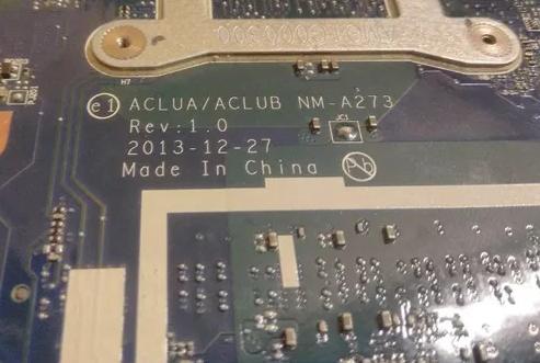 Lenovo Z50-70  Mainboard ACLUA/ACLUB NM-A273 Rev 1.0 Laptop Bios